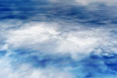 Horizontal ice cloudscape abstraction Stock Photos