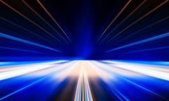 Horizontal vivid digital business centered teleport abstraction Stock Photos