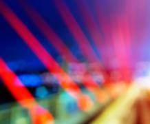 Horizontal vivid bridge blurred bokeh abstraction background Stock Photos