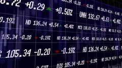 Background stock quotes in trading terminal - stock footage