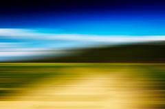 Horizontal vivid abstract motion blur forest landscape backdrop Stock Illustration