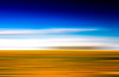 Horizontal vivid abstract motion blur landscape backdrop Stock Illustration