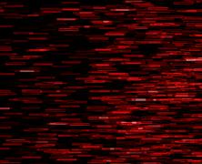 Square red vivid 8-bit pixel dot interlaced space stars blast te Stock Illustration