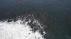 Drone Over Reef Waves Breaking 4K Hawaii Stock Footage