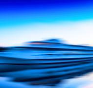 Horizontal vivid vibrant moving ship boat motion abstraction bac Stock Photos