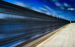 Horizontal running jogging near fence abstraction backdrop Stock Photos