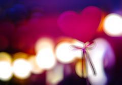 Wedding heart blurred bokeh backdrop Stock Photos