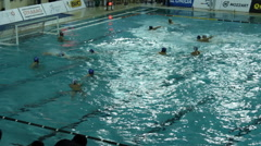 Water polo match ,above  Stock Footage