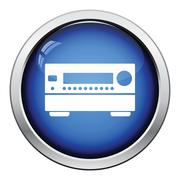 Home theater receiver icon Stock Illustration
