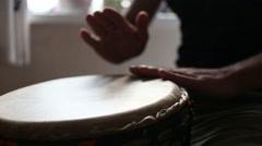congo drummer performing - stock footage