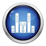 Audio system speakers icon - stock illustration