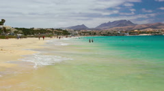 Costa Calma beach on Fuerteventura, Spain. - stock footage