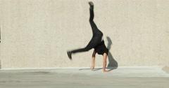 Young Man Break Dancing Outside Arkistovideo