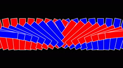 Moving geometric shapes-AI-02-na Stock Footage