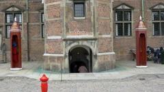 Entry to Rosenborg Castle Copenhagen Stock Footage