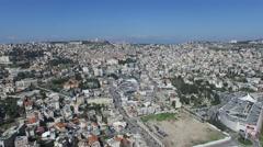Nazareth - Modern City - French Hospital - Basilica of the Annunciation 03 Stock Footage