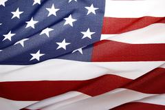Closeup of ripple American flag Stock Photos