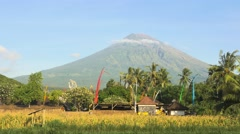 The active volcano Agung. Bali's highest and most sacred mountain Stock Footage