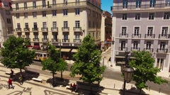 Baixa-Chiado largo de camoes Lisbon 15.06.2016 Stock Footage