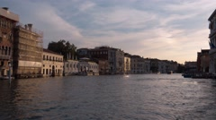 Grand Canal in the city of Venice Italy - Canale Grande Stock Footage
