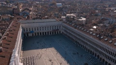 Aerial view over St Mark s Square in Venice - San Marco Stock Footage