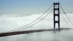 Golden Gate Bridge shrouded in Fog, San Francisco, CA - stock footage