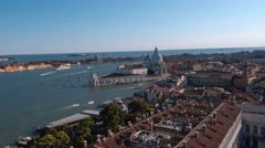 Amazing aerial view over the city of Venice Stock Footage
