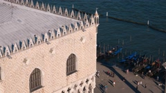 Doge´s Palace - Palazzo Ducale in Venice at St. Mark´s Square - Piazza San Marco Stock Footage
