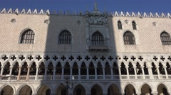Famous Doge s Palace in Venice - Palazzo Ducale at St Marks Square Stock Footage