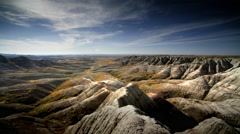 Badlands Scenic, Badlands, NP South Dakota Stock Footage