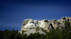 Mount Rushmore National Monument with light and shadow changing Stock Footage