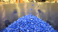 Plastic bottle cap injection moulding machine Stock Footage
