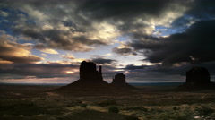 Buttes at Monument Valley, UT Stock Footage