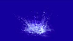 4k Waterdrop ripple splash geyser spring water liquid drop droplet particles. Stock Footage