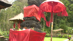 Temple in the middle of Tamblingan lake Stock Footage