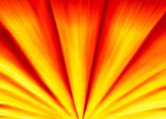 Vibrant orange sunshine motion blur abstraction backdrop - stock illustration