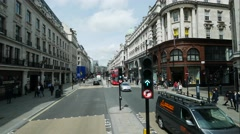 Time lapse of traffic at the shopping center of London  from the double deck Stock Footage