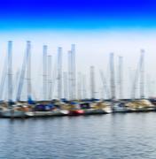 Square vibrant yacht club motion blur background backdrop Kuvituskuvat