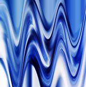Vibrant bue digital twirl abstraction Stock Photos