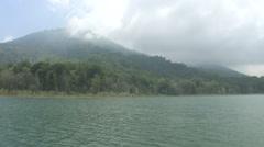 Tamblingan lake, Bali Stock Footage