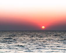 Horizontal vivid burning sunset blur abstraction background back Stock Photos