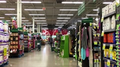 One side of people shopping inside Save on Foods. - stock footage