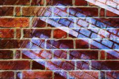 Brick collage abstraction - stock illustration