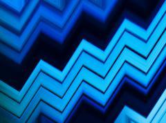 Horizontal vivid blue aqua business presentation pixel abstracti Stock Illustration