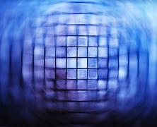 Futurstic grid swirl twirl abstraction - stock photo