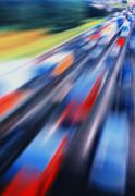 Pixel highway jam abstractioin Stock Photos