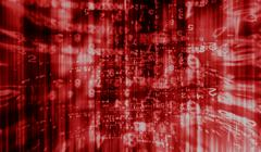Inside computer red interlaced digital abstraction background Stock Illustration