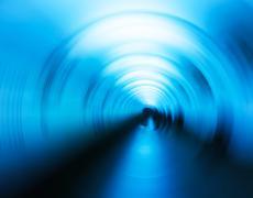 Horizontal vivid cyan blue swirl twirl blur business background Stock Photos
