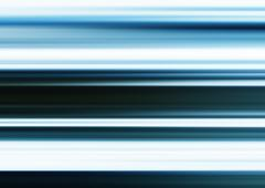 HORIZONTAL VIVID BLUE VIBRANT BLUR MOTION ABSTRACTION BACKGROUND - stock photo