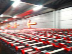 Supermarket carts motion blur abstraction background Stock Photos